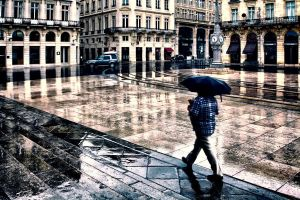 Bordeaux in the Rain by cahilus