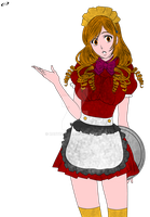 Inoue Orihime Maid by RoxyRo123