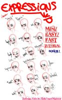 Mini Easy Fast Tutorial BONUS : Expressions by PinkHeart-Manoon