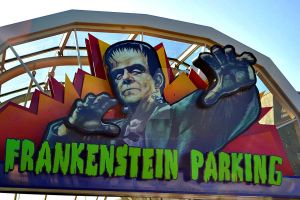 Frankenstein Parking Sign by InnsmouthFishwife