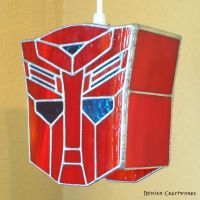 Autobots - Transformers - Stained Glass Lamp by devilxkat