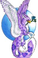Purple Snow Leopard Gryphon by hollyann