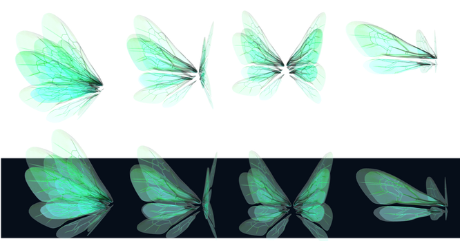 Glowing Wings png by mysticmorning