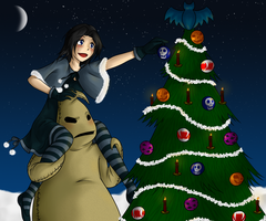 'Nightmare before decorate the Christmas tree' by Lileyx