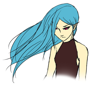 orig: wip - elf chick by elven-meito