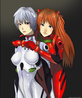 Rei and Asuka by Bloomseed