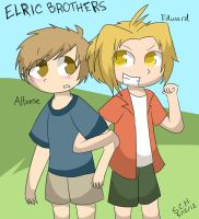 Young Elric Brothers by Kazia-Kat