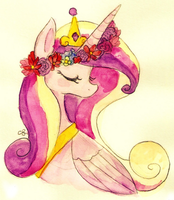 FlowerCrownCadance by ChiuuChiuu