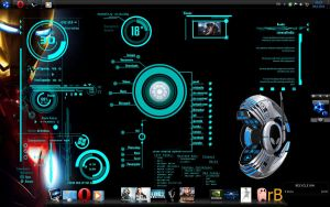 Iron Man Desktop by Urosq