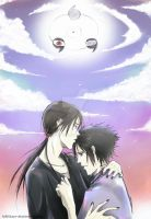Itachi and sasuke little kiss. by Kibbitzer
