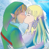 Happy 2 Years Link and Zelda Skyward Sword by Dbzbabe