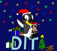 Christmas badge for Diti by Enricthepenguin92