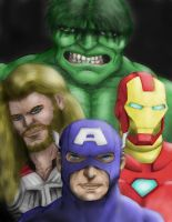 Avengers Colored by jpsimpson81