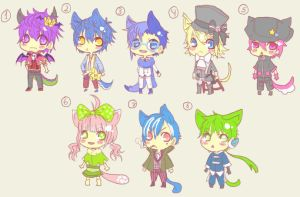 Neko Adoptables [OPEN] by Yushuyu