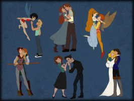 Non-Disney couples by scaragh