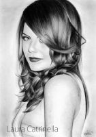 Portrait drawing of Emma Stone. by LauraCatrinella
