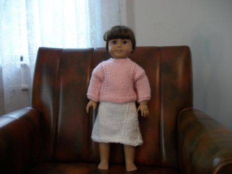 knit two piece 18 inch doll outfit by animemama-100