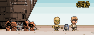 Star Wars Episode IV scene - pixel art by DanOcean