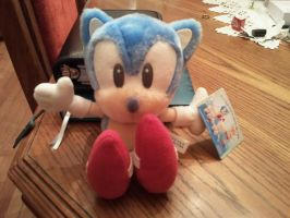 Pastel-Baby Sonic Plush by Blue-Sonikku