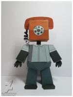 five nights at freddy's Phone Guy Papercraft by Adogopaper