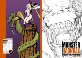 Monster Monday Sketchbook Vol.1#2 Front/Back Cover by Comicbookist