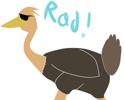 Radical Ostrich is RAD-EH-COOL! by Planet-i-Studios
