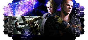Resident Evil 6 signature Jake and Sherry by AzloRaimT