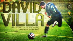 David Villa WC2014 by HkM-GraphicStudio