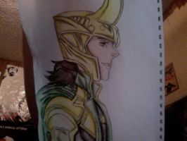 I drew Loki (colored) by RainBowsAreForEver