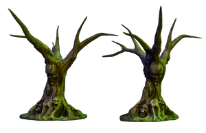 Spooky Tree 03 PNG Stock by Roys-Art