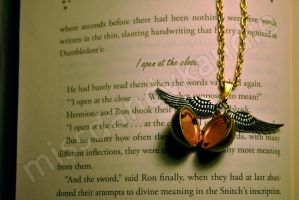 Harry Potter Snitch Necklace 2 by misskandie