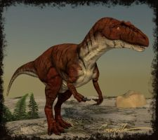 My allosaurid self #3 by c-compiler