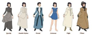 The Wardrobe of Ms. Nettle by norree