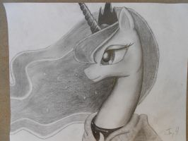 Princess Luna in graphite by bigmac22