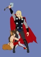 Thor And The Fox by ReiGodric