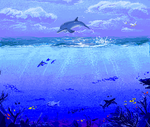 Sprite The Dolphin - With BG by AuldBlue
