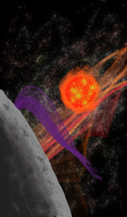 Fingerpainted Space Scene by TheCentipede
