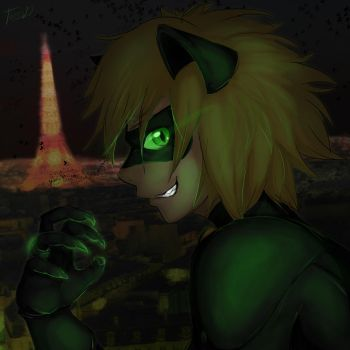 Chat Noir by therosa10