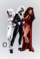 Women of Marvel Part 1 -Color- by Choppic