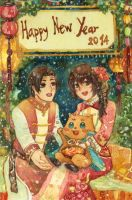 Suikoden-- Happy New year! by thanyawan