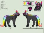 Rainbow kitty (open auction) by Flare-goes-OM-adopts