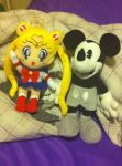 Mickey Mouse and Sailor Moon by Zorceus