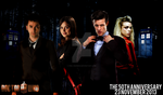 The Doctors and Companions Doctor Who 50th Poster by feel-inspired