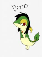 Draco the snivy by snivy-fan