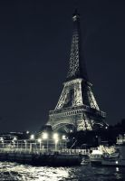 Eiffel and Seine by serpentsigh