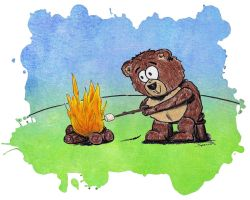 Campfire Teddy II by bnspencer