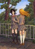 Rukia and Orihime:Some goodbye by SepiaCoerulea