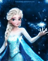 Queen Arendelle Elsa - frozen [AO] by ThaharaTeja