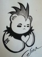 VALENTINES DAY PUNK BEAR by ChibiCelina
