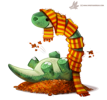 Daily Paint #1053. Autumn Dinos - Apatosaurus by Cryptid-Creations